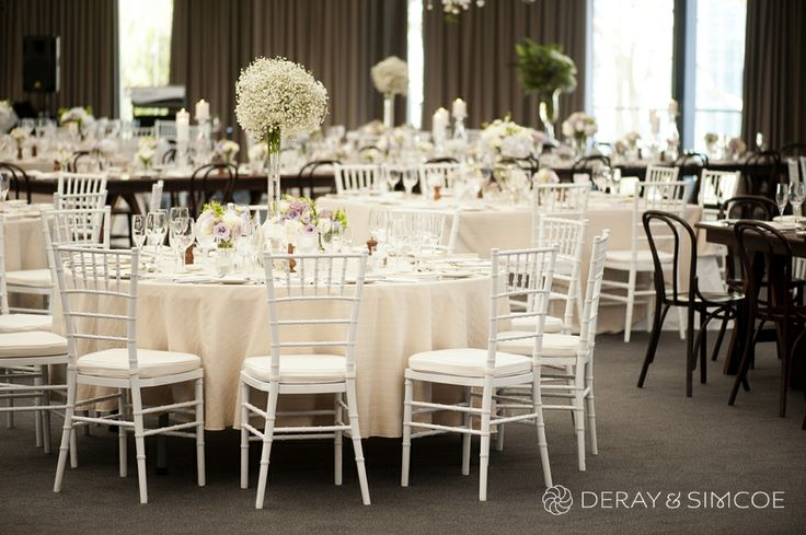 White tiffany chairs. Wedding reception styling, ideas and inspiration. Wedding Reception at The State Reception Centre Kings Park, Perth Western Australia  Photography by DeRay & Simcoe