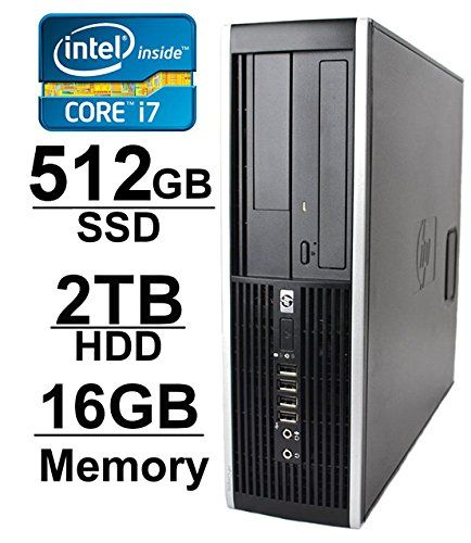 HP 8100 i7 Workstation Desktop Computer Core i7 2.8GHz up to 3.46GHz *NEW* 2TB HDD + *NEW* 512GB SSD 16GB RAM WIFI 1GB Video Card w/ HDMI Windows 7 Pro 64 Refurbished