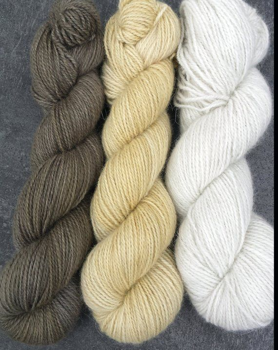 With 50/% GOTS Merino Seidenhase Homegrown Bunny Yarn from Our Own Rabbitry Hand Dyed. 3x Angora50