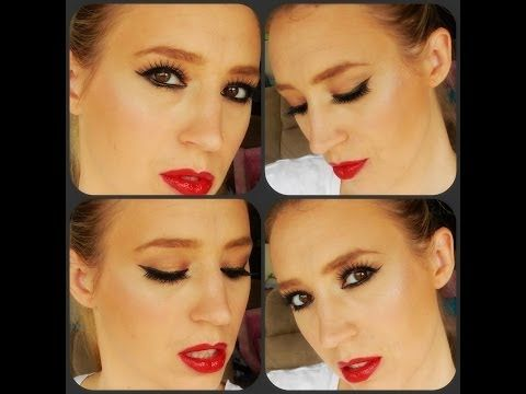 Bridal Makeup Tutorial   Gold Eyes with Red Lip
