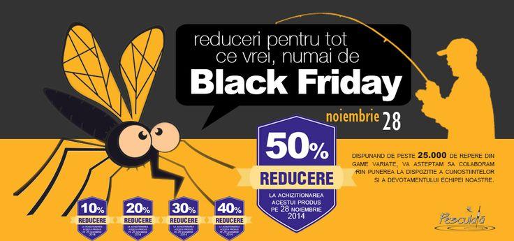 BLACK FRIDAY Pescuiala.ro a sosit. Produse la preturi speciale in limita stocului disponibil cu livrare imediata. Fir intins la Pescuiala. http://www.pescuiala.ro/lichidari-stoc/blackfriday/