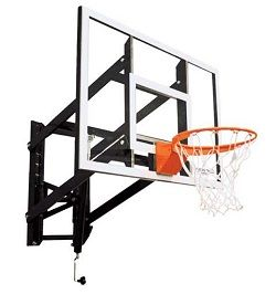 Wall Mount Basketball Hoop - GS54GA Goalsetter Basketball Hoops 54-inch Glass Backboard - Adjustable