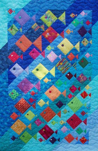 Fish Quilt Pattern | ... about quilts-summer on Pinterest | Quilt, Picnic quilt and Sailboats