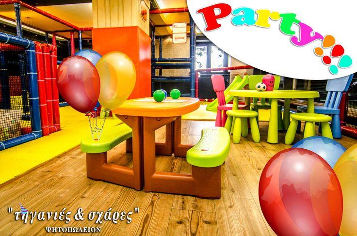 """Κάντε το παιδικό σας πάρτι στις """"Τηγανιές & Σχάρες"""" ,στο κατάστημα μας στην Καυταντζόγλου 12 (έναντι ΕΡΤ3), από Δευτέρα έως Παρασκευή και από τις 13:00 έως τις 21:00 (στον πάνω όροφο, στον παιδότοπο.)  #Τηγανιές& #Σχάρες #Ψητοπωλείο #Θεσσαλονίκη"""