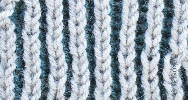 Η πλέξη μπριός με δύο χρώματα ίσως να είναι ευκολότερη στην κυκλική τεχνική. Αν όμως δεν έχετε δοκιμάσει ξανά πλέξη μπριός ρίξτε μια ματιά στα άρθρα π...