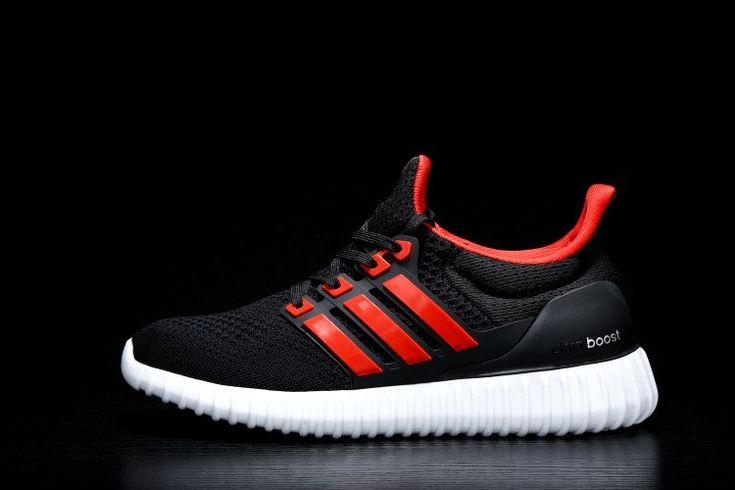 Homme Adidas Ultra Boost X Yeezy Boost Noir Rouge Baskets à bas prix