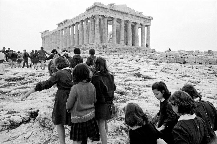 GREECE. Athens. Schoolchildren visit the Acropolis. 1964. Rene Burri