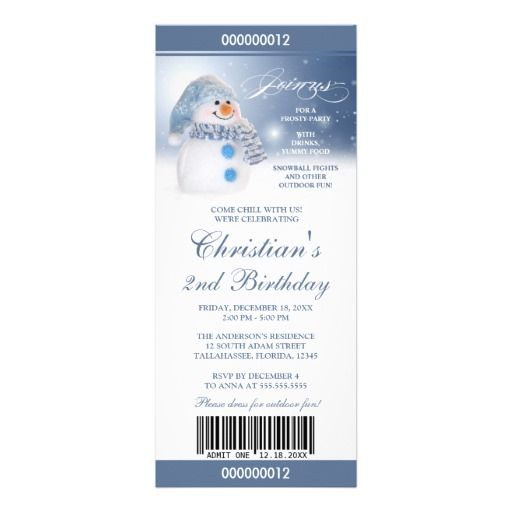 109 best Birthday Party Invitation Templates images on Pinterest - christmas party tickets templates