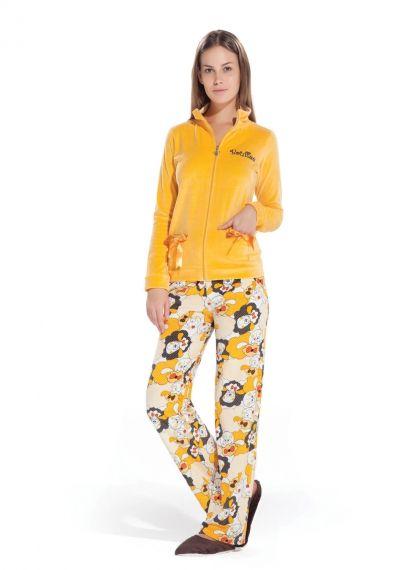 Hays Bouffee Kadife Bayan Uzun Pijama Takımı... Daha fazlası için: www.haysshop.com
