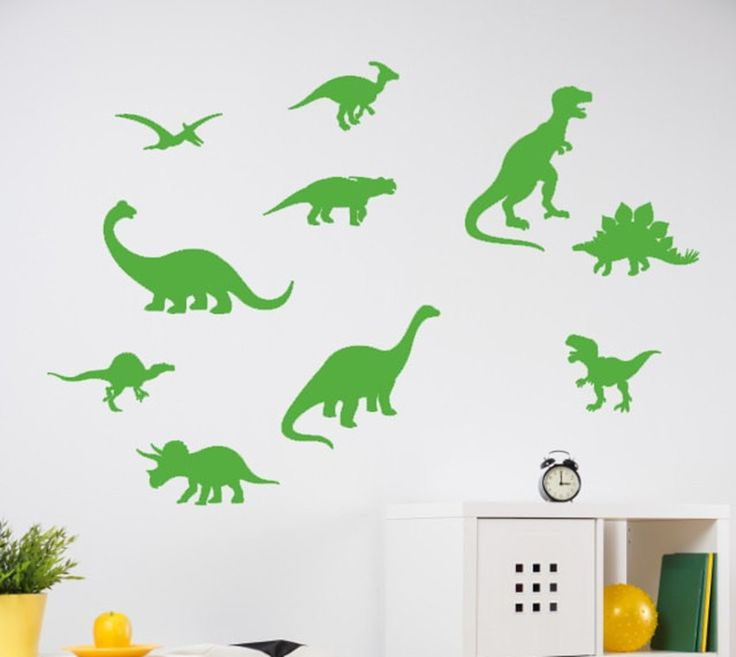 Dinosaur Wall Decal   Dinosaur Patter Bathroom Decals Boy Bedroom Wall  Decor Sticker 10 Set Kids Part 55