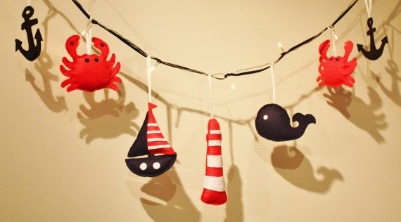Nautical Nursery fairy lights nautical room by ButtonOwlBoutique, £23.00