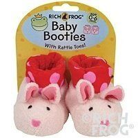 Bunny Baby Booties 0-6m Rich Frog. $15.89