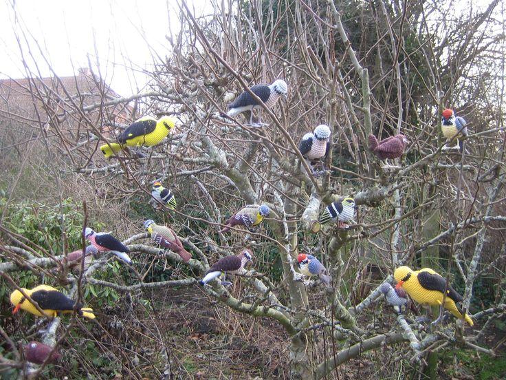 hæklede spurve fugle. eget design
