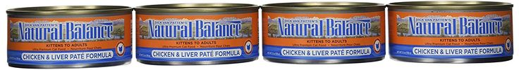 Dick Van Patten's Natural Balance Chicken and Liver Pate Canned Cat Food (Case of 24), 5.5 oz. *** Startling review available here  : Cat food