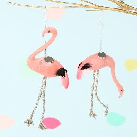 Lisaangel Co Uk Set Of 2 Personalised Flamingo Hanging Decorations