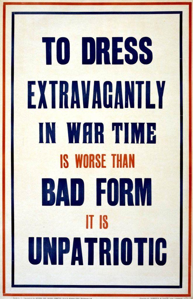 'To dress extravagantly…' poster | Retronaut