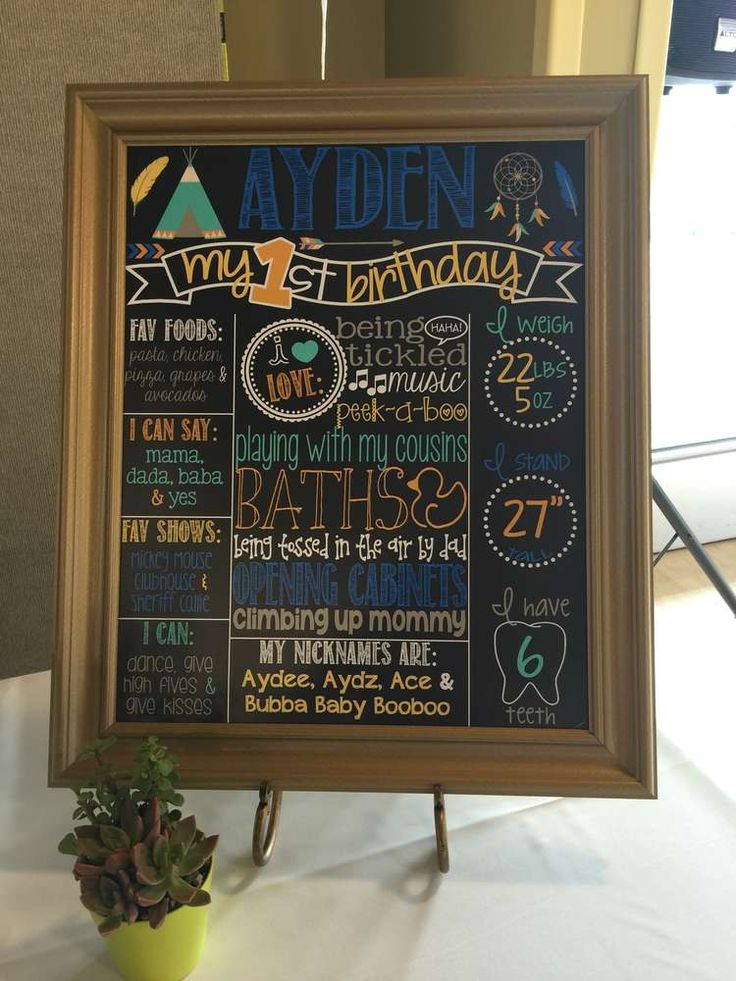 Chalkboard sign at a tribal boho birthday party! See more party planning ideas at CatchMyParty.com!