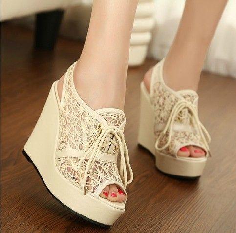 $39.99  Hansenne lace vivi sexy slipsole sandal high-heeled shoes  cute and lovely 2013 new fashion heel:12cm Slugged bottom:3.5cm