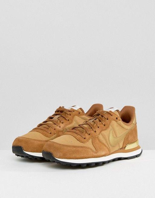 official photos 20514 d2841 Nike Internationalist Sneakers In Mushroom With Metallic Trim   Shok nike    Nike, Nike internationalist, Sneakers