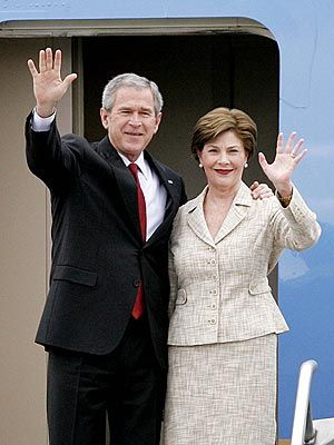 George w and laura bush remarkable, very