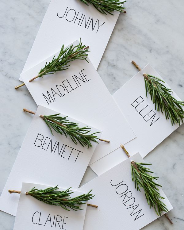 Easy DIY place cards for your holiday dinner parties