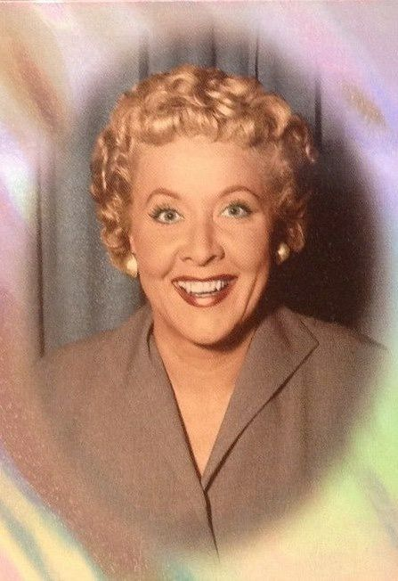 "A radiant Vivian Vance, best known for her role as Ethel Mertz, sidekick to Lucille Ball on the American television sitcom ""I Love Lucy."""