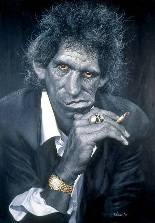 Keith Richards Caricatures by Sebastian Kruger