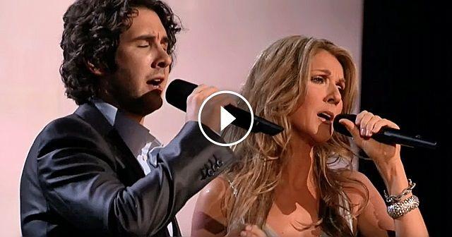 Álló ováció a könnyfakasztó előadás végén, Celine Dion és Josh Groban csodálatos duettje a Prayer című számmal