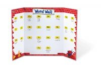 Word Wall  Visualizing difficult words  This world wall is a great tool for your pupils to learn difficult, new and key words.    Write down any word on the world wall with whiteboard markers, and your pupils will automatically read the words again and again.    The world wall is easily placed anywhere in your class room and can  even be hung up by making use of the 4 hook holes.  Dimensions: 112 x 71 cm (open)  List Price: R502.99