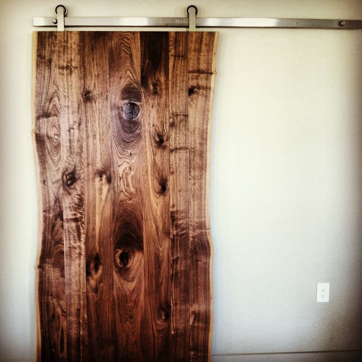 Live edge walnut slab door