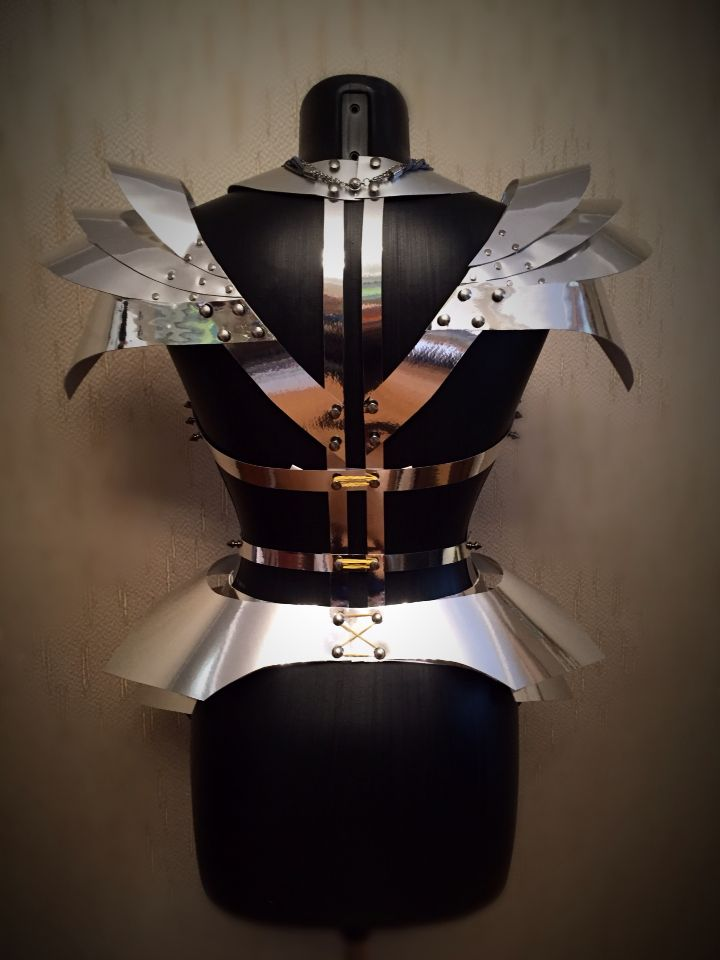 Chrome corset that I made for a fashion photo shoot