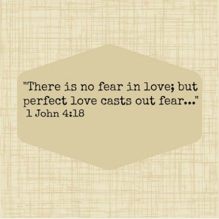 fear or love in the bible essay There is no fear in love but perfect love casts out fear, because fear involves punishment, and the one who fears is not perfected in love king james bible there is no fear in love but perfect love casteth out fear: because fear hath torment.