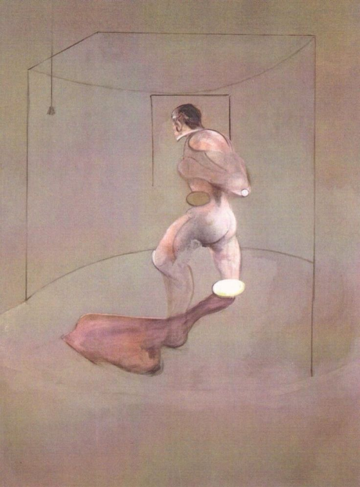 Francis Bacon / Field  painting / Movement  Expressionismus, Surrealism, Cubisme /  study of human figure after muybridge, 1988