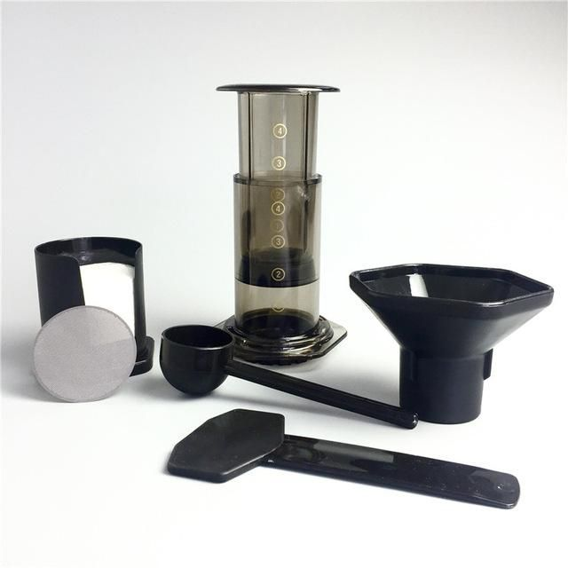 Portable Air Press Coffee Maker with Reusable Stainless Steel Coffee Filter