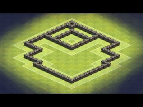 Clash of Clans - TH4 Hybrid Base (Shield) - YouTube