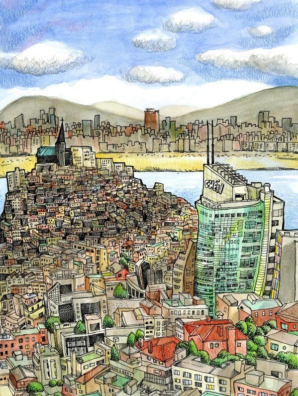 South Korea - via Urban Sketchers