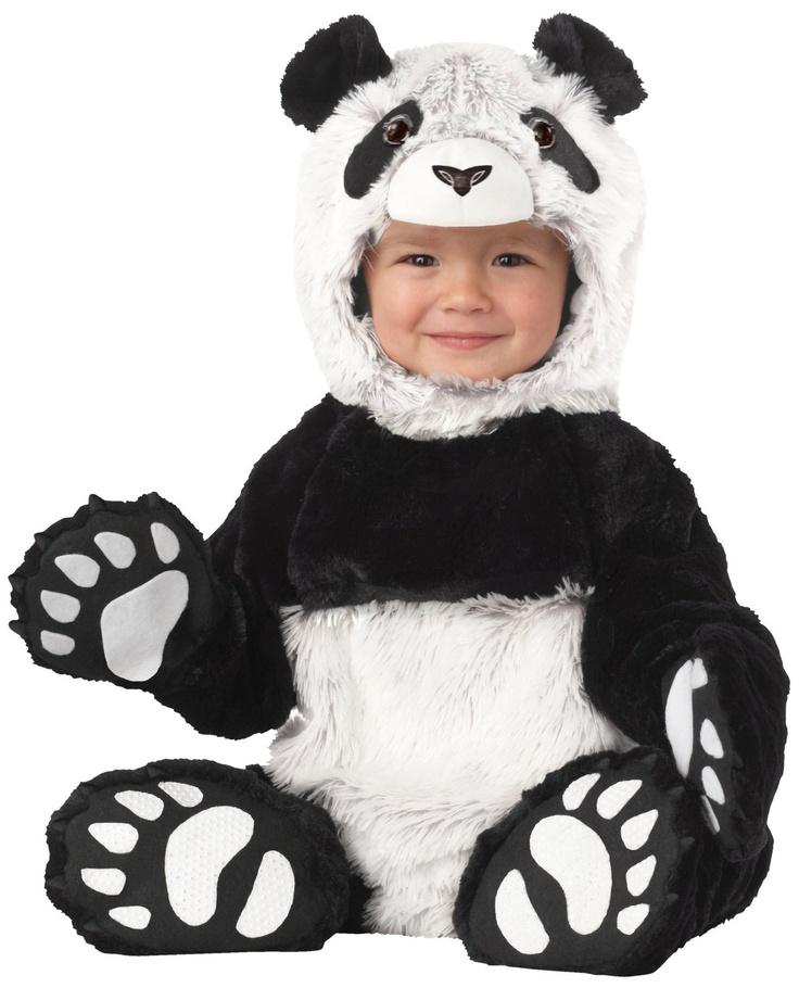 tierno bebe con disfraz de osito panda