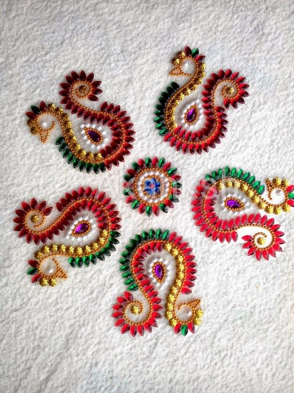 kundan rangoli on ohp sheet - Google Search