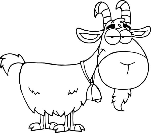 Goat Cartoon Character Coloring Pages Color Luna Goat Cartoon Online Coloring For Kids Coloring Pages