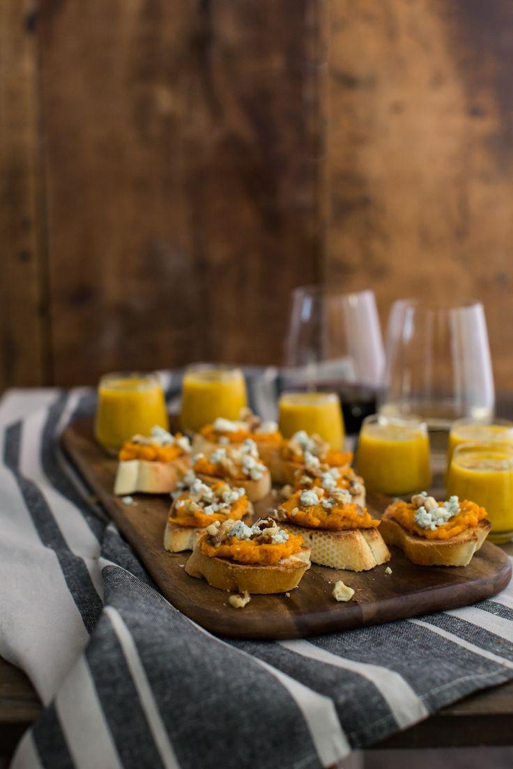 Sweet Potato Crostini and Butternut Squash Soup | Naturally Ella