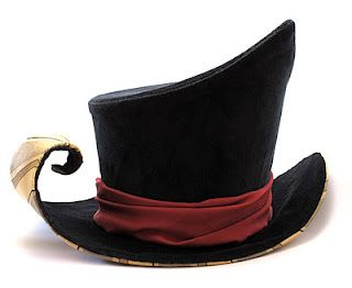 what fun! This would be a fun wiring project to get the curl, and keep the tip crisp. Asymmetrical, modern, wonky top hat.