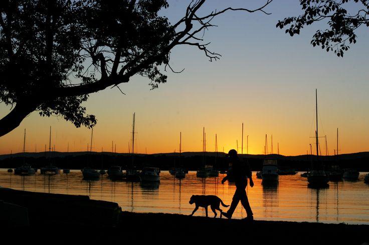 Sunset at Croudace Bay, Lake Macquarie