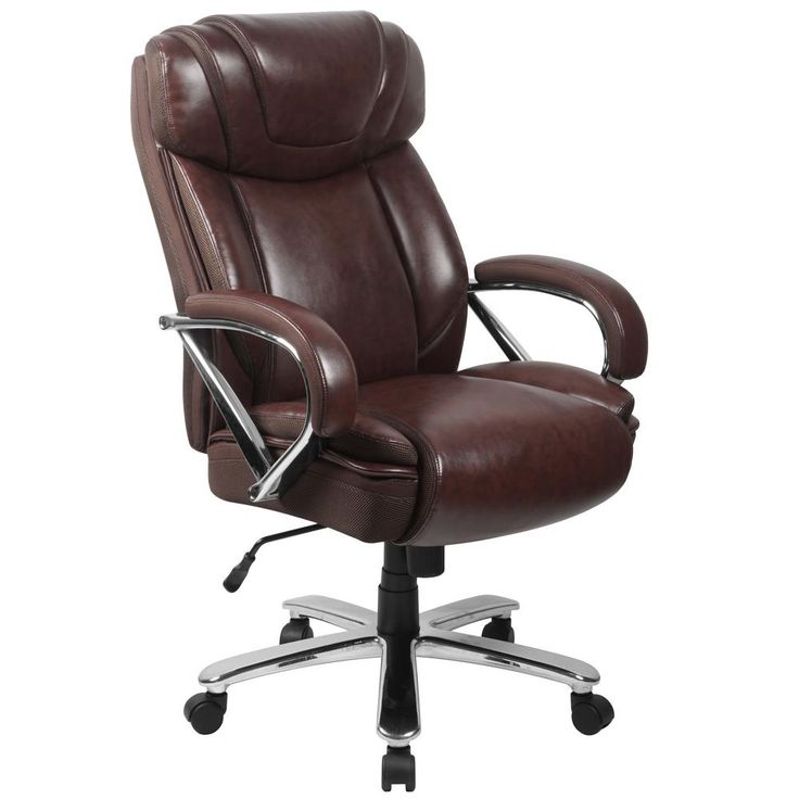Ofm Avenger Series 812 Lx Brown Big And Tall Executive Chair Brown Leather Office Chair Executive Chair Tall Office Chairs