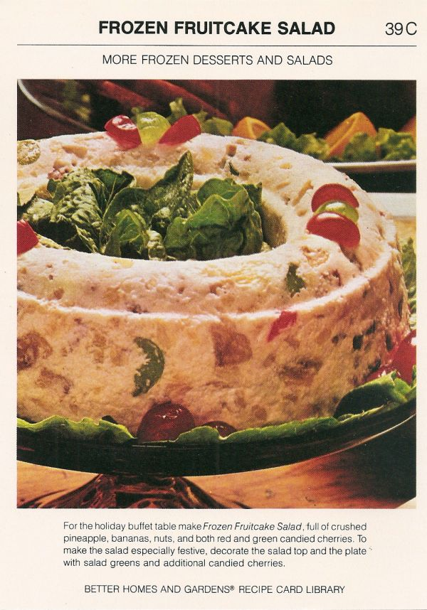 frozen fruitcake salad