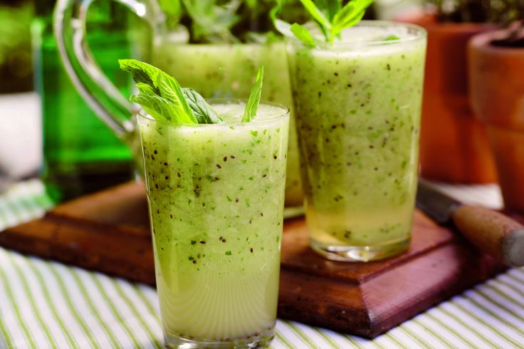 Kiwifruit is the star of this refreshing summer beverage.