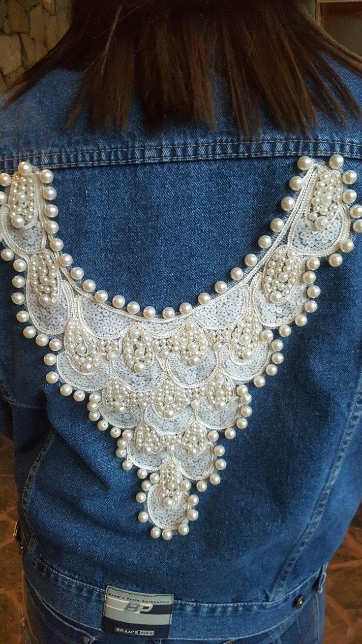 chaqueta jeans, enchulada, street fashion, perlas en tu rop