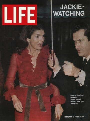"Jackie Onassis ~ Life Magazine ~ February 12, 1971 issue ~ Click image to purchase. Enter ""pinterest"" at checkout for a 12% discount."