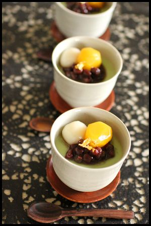 Japanese Matcha Green Tea Pudding for Dessert  AHHH someone please translate this for me!
