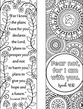 8 Bible Verse Coloring Bookmarks Bookmarks Bible