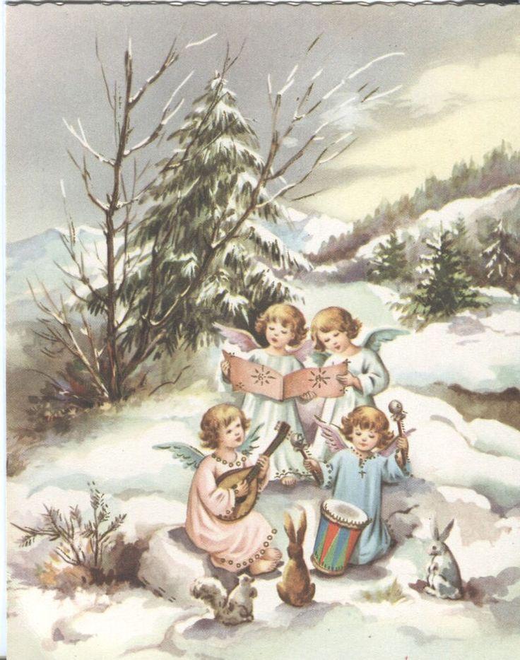 121 Best Vint Christmas Cards Faith Images On Pinterest